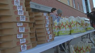 Veteran's Club and Yum! Brands give away food, winter gear outside Louisville's Healing Place