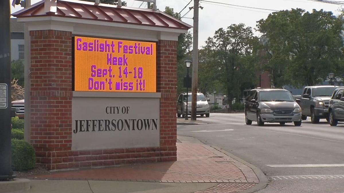 JEFFERSONTOWN GASLIGHT FEST SIGN