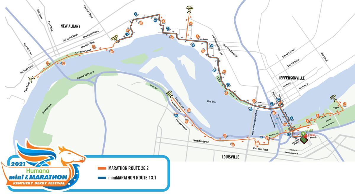 KDF MARATHON AND MINIMARATHON COURSE MAP 2021