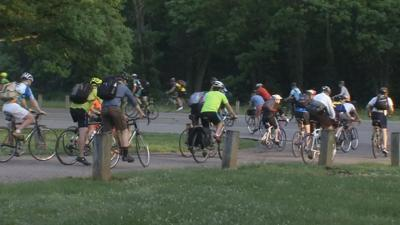 Louisville's Bike to Work Day kicks off from four local parks