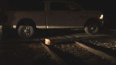 Coal Miners Block Railroad Tracks