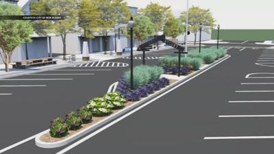 New Albany Streetscape Rendering