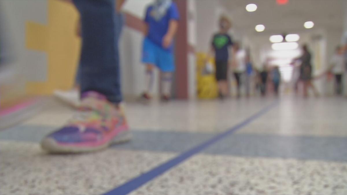 Generic blurry kids in school