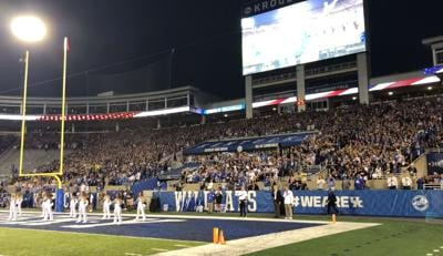 Fans at Oct. 9, 2021 UK Wildcats game at Kroger Field