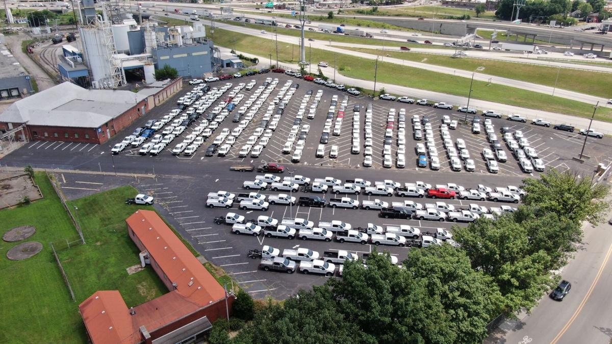 Ford trucks at Colgate plant 7-9-21