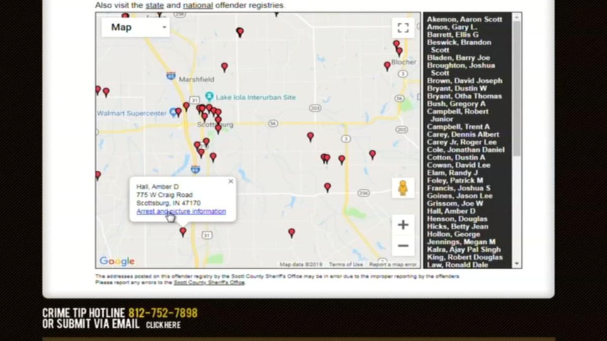 Scott County sex offender map