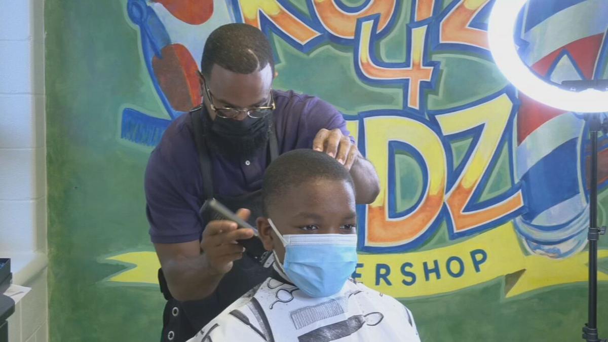 Student gets free haircut at Kutz 4 Kids