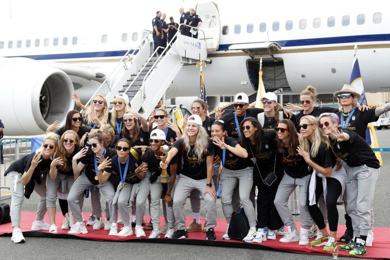 US WOMEN SOCCER WORLD CUP CHAMPS ARRIVE HOME - AP - 7-8-19 4.jpeg