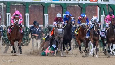 Jockey fall