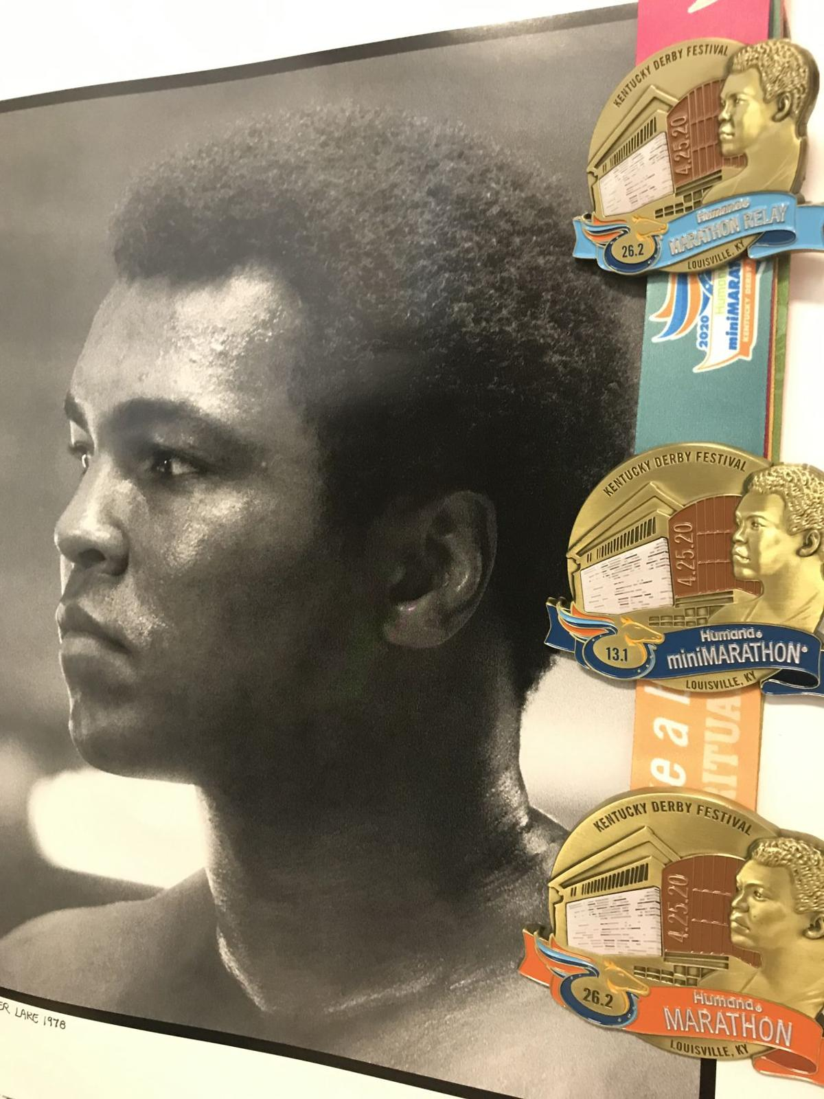 Muhammad Ali photo with 2020 KDF Race Medals.jpg