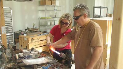 GINA ON THE JOB: Glassblower at Glassworks
