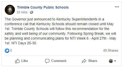 Trimble County Public Schools post.JPG