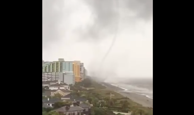 WATERSPOUT TO TORNADO: Watch This Incredible Footage From Myrtle Beach...