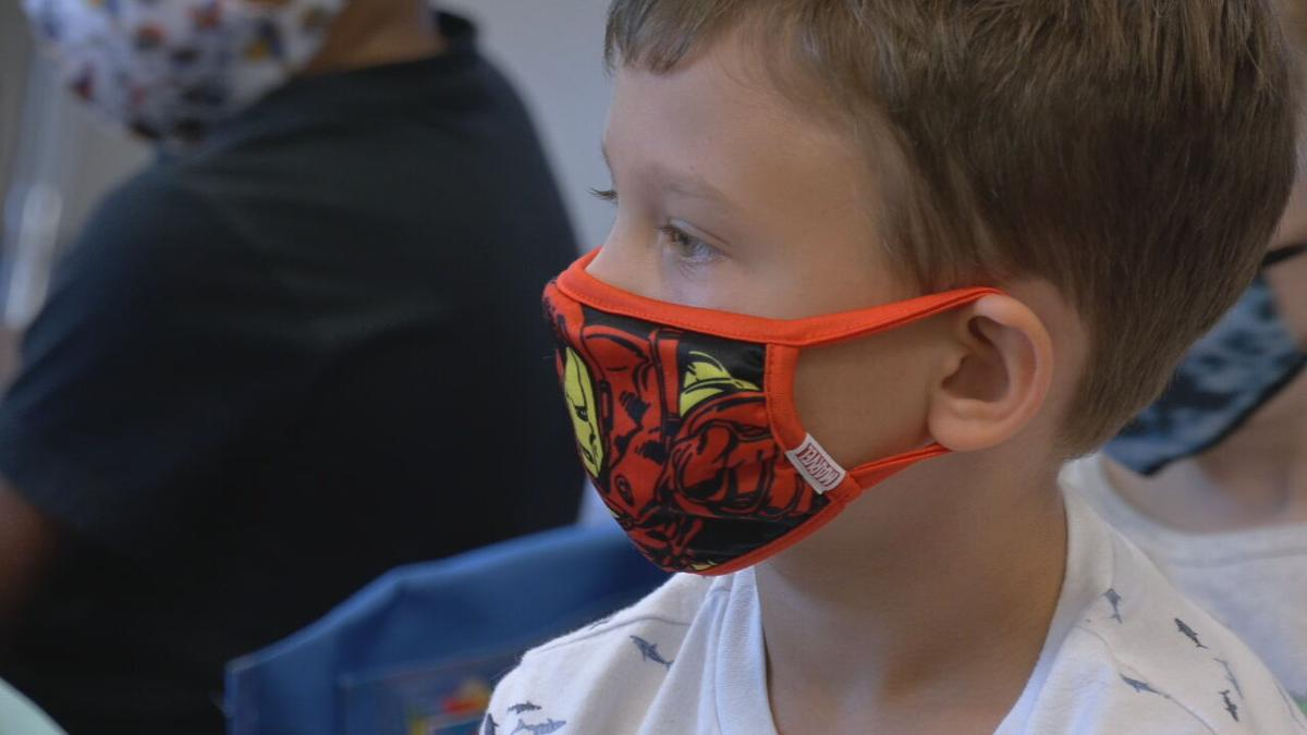Student with mask on