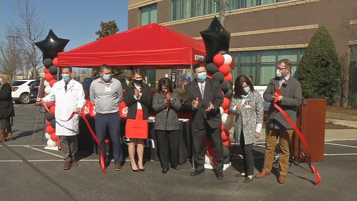 March 3, 2021 ribbon cutting for UofL Health's Medical Center Northeast