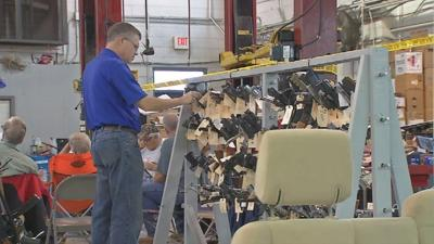 Hundreds of guns used in crimes sold at auction Tuesday by Kentucky State Police