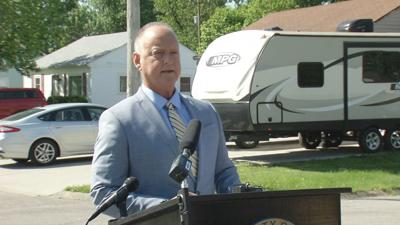 Jeffersonville Mayor Mike Moore zoning news conference