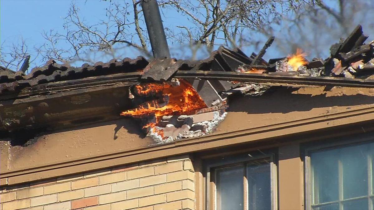 Brownsboro Road Fire Flames Closeup