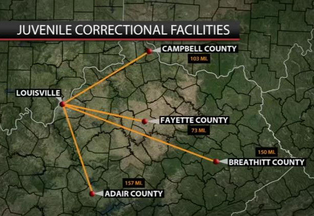 YDS Kentucky Youth Detention statewide graphic