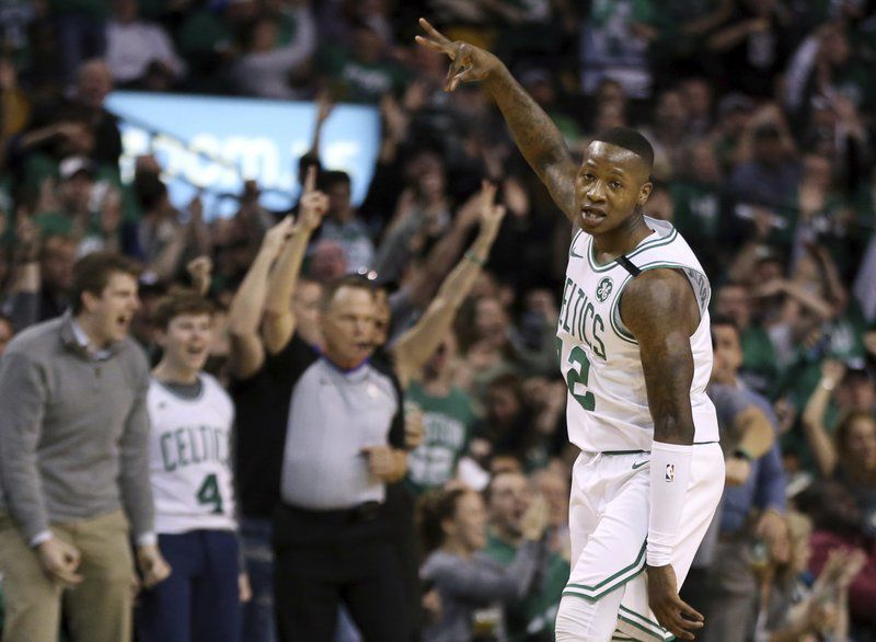 Terry Rozier celebrates
