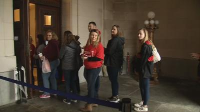 Teachers in Frankfort for sick out 3-14-19