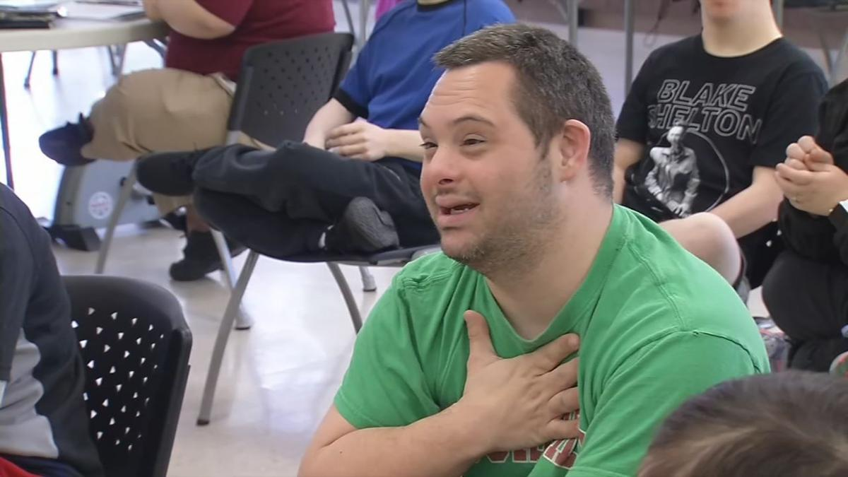 A member of the community at Down Syndrome of Louisville