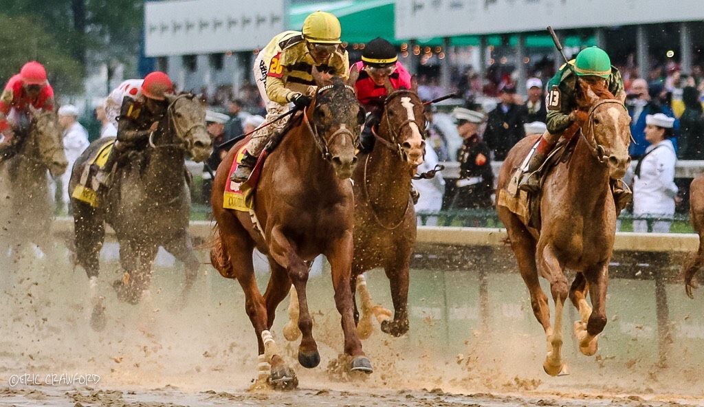 Country House running at Kentucky Derby