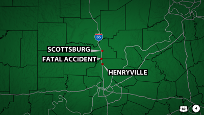 1 person killed in crash on I-65N in Scott County, Indiana, near Henryville