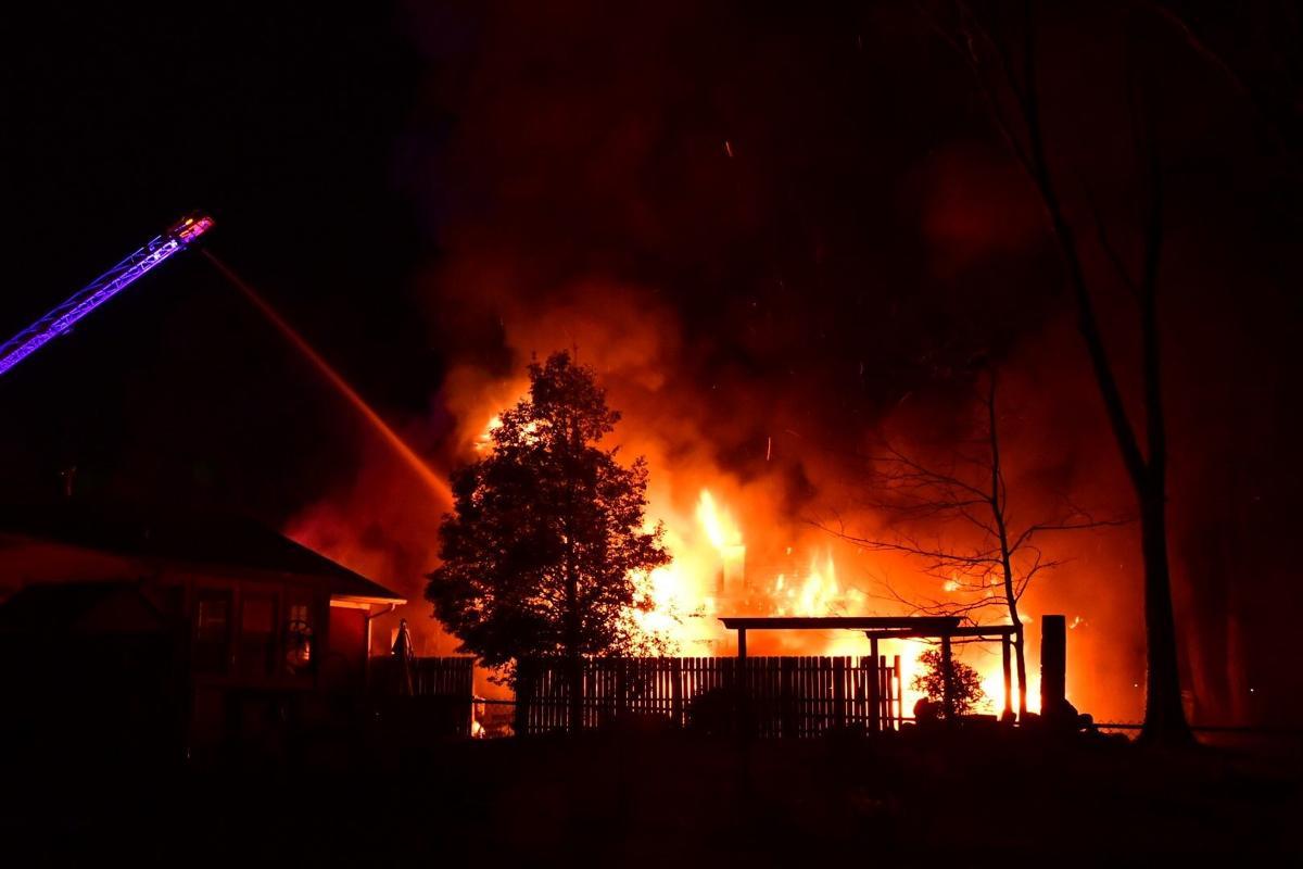 Fire engulfs home in Louisville's Audubon neighborhood