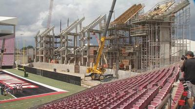 IMAGES | U of L gives tour of construction on $63 million Papa John's Cardinal Stadium expansion