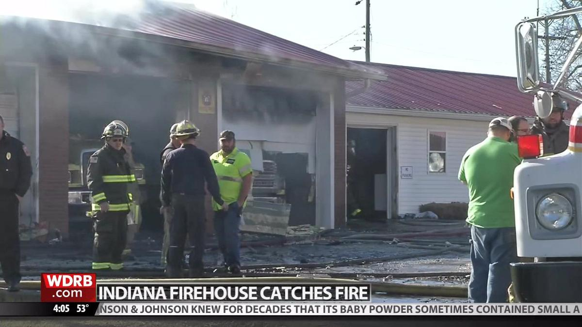 Southern Indiana fire station damaged in fire