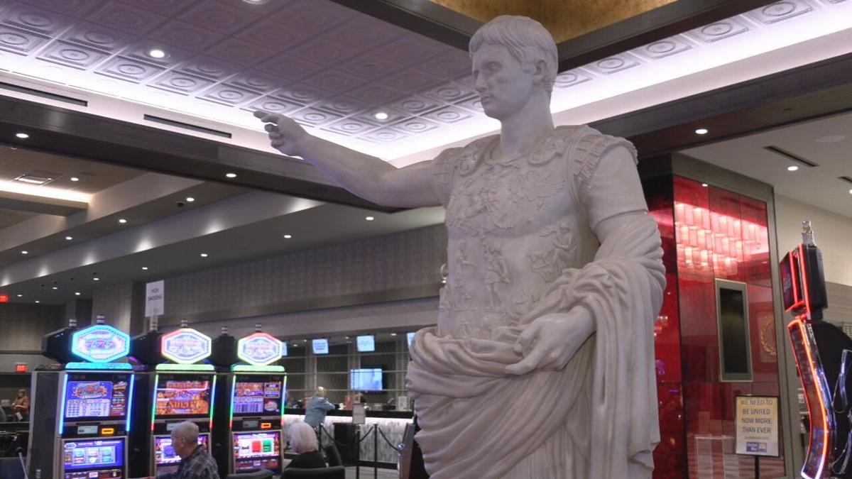 Caesar sculpture at Caesars Southern Indiana