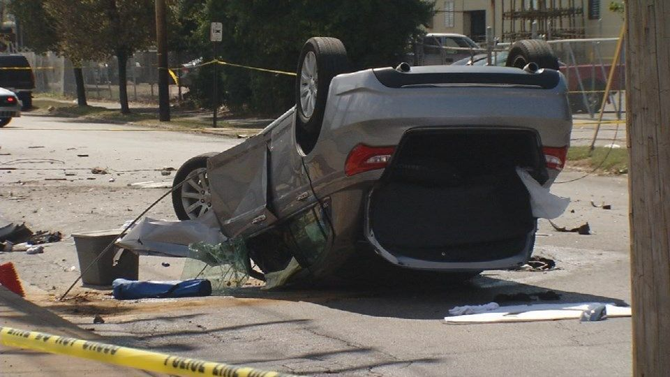 Driver suffers non-life-threatening injuries after Broadway crash that damages utility pole