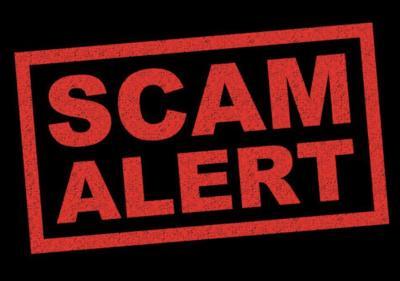 - scam logo