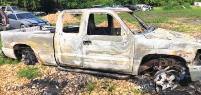 - Tips sought on burned truck