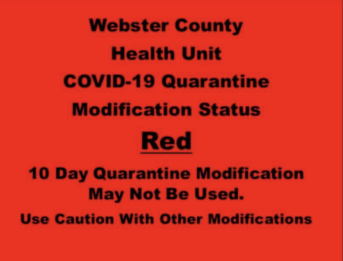 - Webster County Health warn of steadily increase in COVID-19 cases