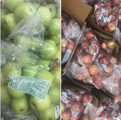 - Apples for sale at the festival this weekend