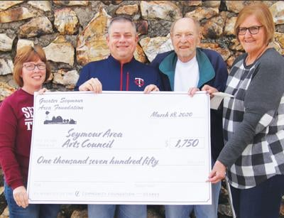 - Seymour Arts Council received $1,750 last week from the Greater Seymour Area Foundation