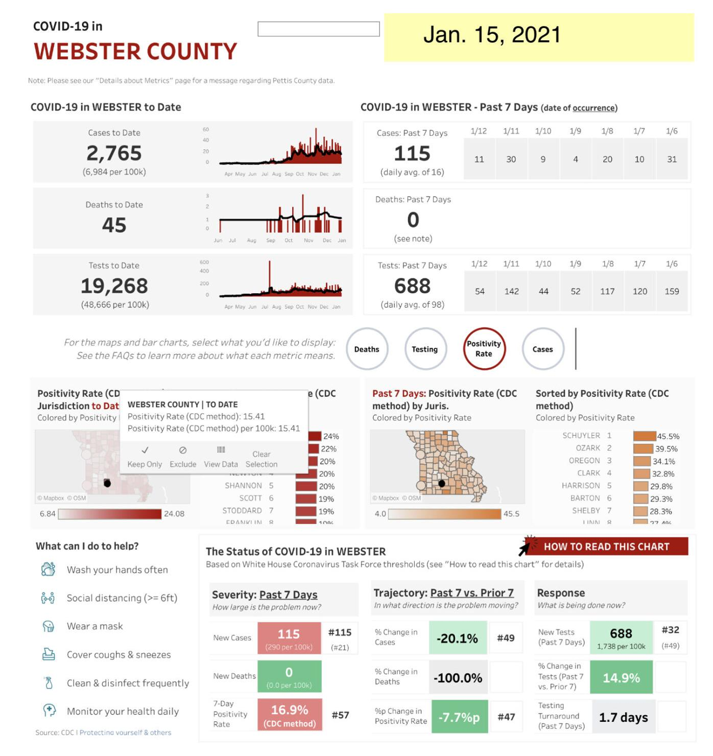 - COVID-19 cases Jan. 15 Web. Co. Mo. State