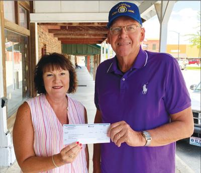 - Seymour's Wilson-Alexander American Legion Post No. 306 received  $295.58