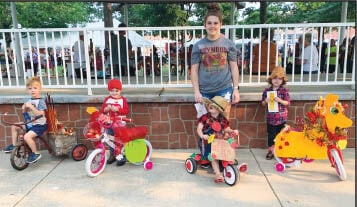 - Decorated-bike Winners ages 5 and under