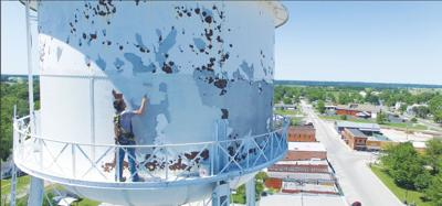 - Seymour's old 1926 water tower repainted