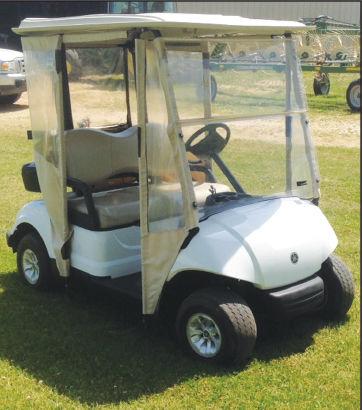 - Golf cart raffled at center