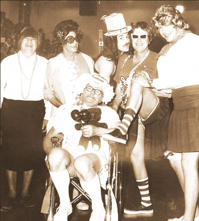 Band uniform fundraiser in 1970s held by civic leaders