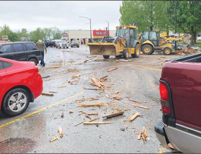 - Main Street closed after high winds