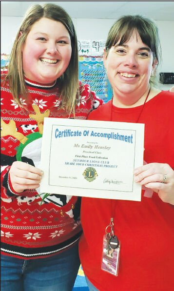 - Hensley presented with certificate