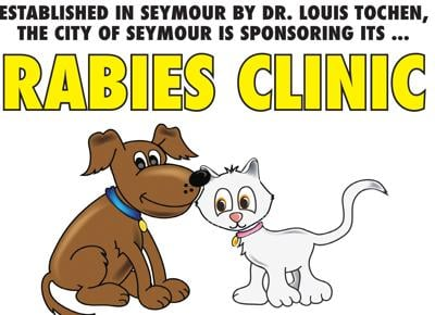 - Seymour city rabies clinic here Saturday