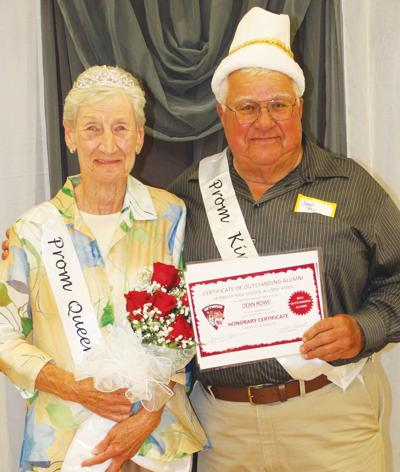 Seymour High School alumni Evelyn and Dean Rowe were named prom queen and king