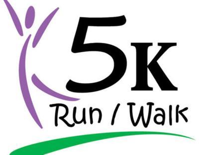- 5K run/walk logo