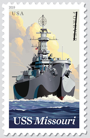 U.S. Postal Service celebrates the USS Missouri (BB-63) with a Forever stamp